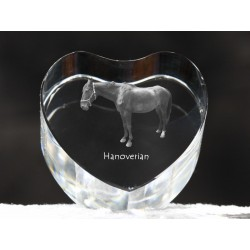 Crystal heart with horse, souvenir, decoration, limited edition, Collection