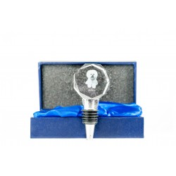 Crystal Wine Stopper with Dog, Wine and Dog Lovers, High Quality, Exceptional Gift