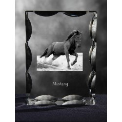 Cubic crystal with horse, souvenir, decoration, limited edition, Collection