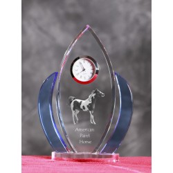 Crystal clock wings with horse, souvenir, decoration, limited edition, Collection