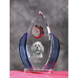 Crystal clock wings with dog, souvenir, decoration, limited edition, Collection
