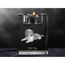 Crystal candlestick with dog, souvenir, decoration, limited edition, Collection