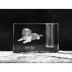 Akita Inu, crystal pen holder with dog, souvenir, decoration, limited edition, Collection