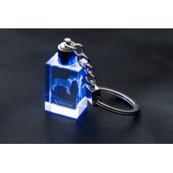 Crystal pendant with the image of a dog