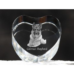 German Shepherd, crystal heart with dog, souvenir, decoration, limited edition, Collection