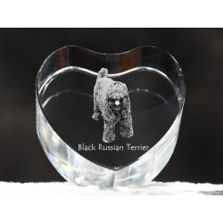 Black Russian Terrier, crystal heart with dog, souvenir, decoration, limited edition, Collection