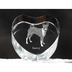 Basenji, crystal heart with dog, souvenir, decoration, limited edition, Collection