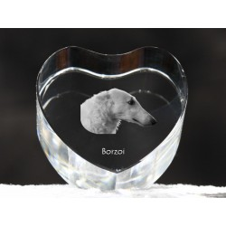 Borzoi, Russian Wolfhound, crystal heart with dog, souvenir, decoration, limited edition, Collection