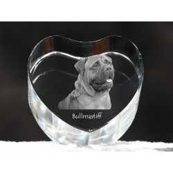 Bullmastiff, crystal heart with dog, souvenir, decoration, limited edition, Collection
