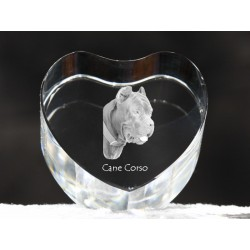 Cane Corso, crystal heart with dog, souvenir, decoration, limited edition, Collection