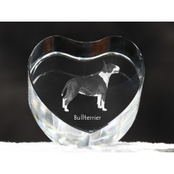 Bull Terrier, crystal heart with dog, souvenir, decoration, limited edition, Collection