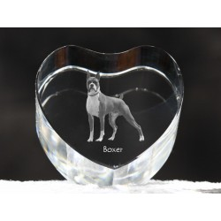Boxer cropped, crystal heart with dog, souvenir, decoration, limited edition, Collection