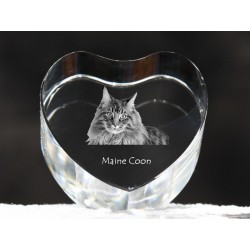 Maine Coon, crystal heart with cat, souvenir, decoration, limited edition, Collection