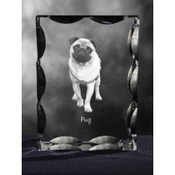 Cubic crystal with dog, souvenir, decoration, limited edition, Collection