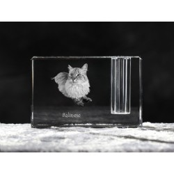 Balinese cat, crystal pen holder with cat, souvenir, decoration, limited edition, Collection