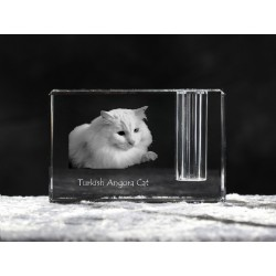Turkish Angora, crystal pen holder with cat, souvenir, decoration, limited edition, Collection