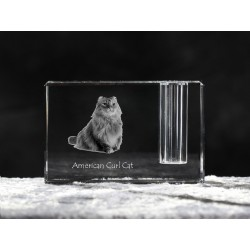 American Curl, crystal pen holder with cat, souvenir, decoration, limited edition, Collection