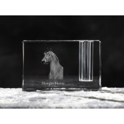 Crystal pen holder with horse, souvenir, decoration, limited edition, Collection